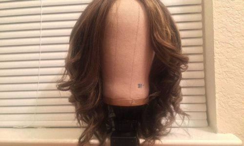 curled synthetic hair
