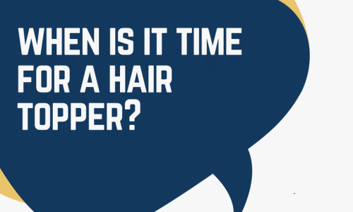 When is it time for a hair topper